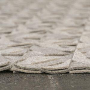 Detail van rand vloerkleed tough